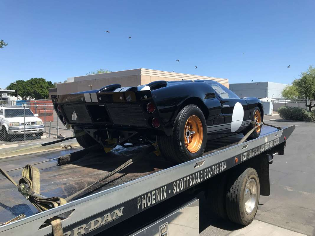 GT40 Loaded On Flatbed